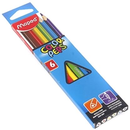 Изображение Krāsu zīmuļi Maped Color`Peps 6-krāsas