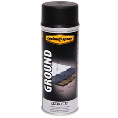 Изображение Aerosolkrāsa  GROUND Anri-Rust  melns