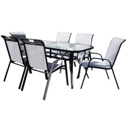 Attēls no Dārza mēbeļu komplekts galds + 6 krēsli