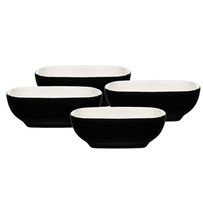 Изображение Bļoda mērcei Maku keramikas, 2.5x7cm melna 4gab.Max 200°C