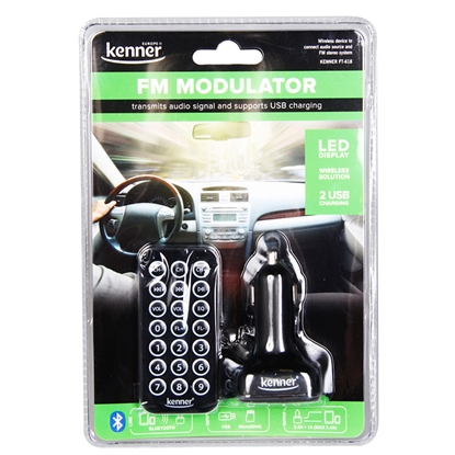 Изображение FM modulators Kenner FT-618+2USB