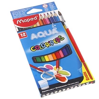 Изображение Krāsu zīmuļi Maped Aqua 12-krāsas + ota