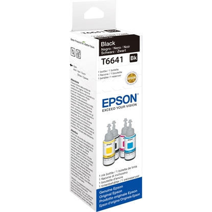 Изображение Epson ink black T 664 70 ml               T 6641