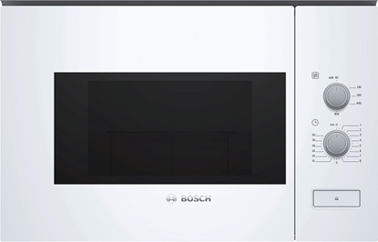 Изображение Bosch Microwave Oven BFL520MW0 20 L,  Rotary knob, 800 W, White, Built-in, Defrost function