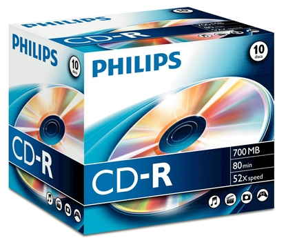 Изображение 1x10 Philips CD-R 80Min 700MB 52x JC