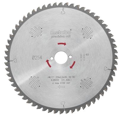 Изображение Zāģripa 254x2,4/1,8x30, z60, WZ, -5°. Precision cut, Metabo