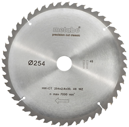 Изображение Zāģripa 254x2,4/1,8x30mm, z48, WZ, -5°, Classic, Metabo