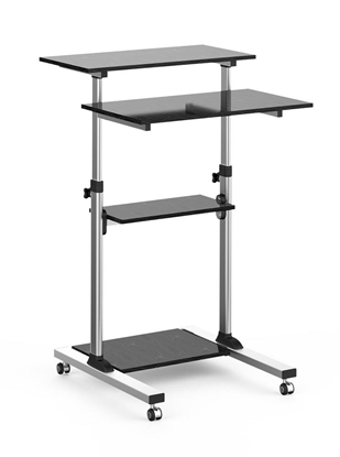 Изображение Techly Universal presentation notebook trolley with four shelves, adjustable