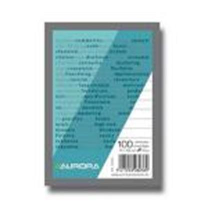 Изображение Bloknots A5/100 rūtiņu,  papīra vāks Aurora