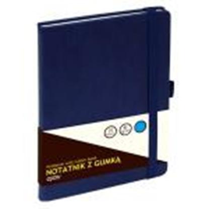 Изображение Klade A5/80 lapas,  ar gumiju,  rūtiņu,  tumši zila,  GRAND