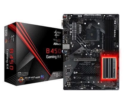 Picture of ASRock B450 GAMING K4, AM4, 6xSATA3, DDR4 3200, USB 3.0+3.1 (Type A+C)