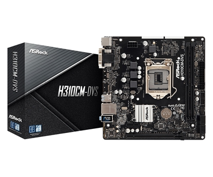 Picture of ASRock H310CM-DVS , INTEL H310 Series, LGA1151, supports DDR4 2666, 4 x SATA3