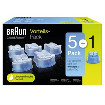 Picture of Braun CCR5 + 1 cleaning cartridges, 6 pack