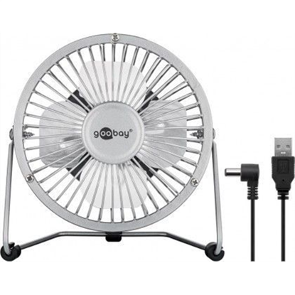 Picture of Goobay 77503 4 Inch Desktop USB fan, silver, 1.2m