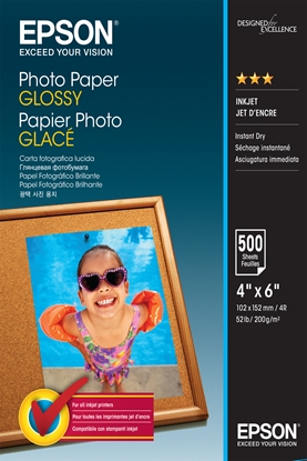 Attēls no Epson Photo Paper Glossy 10x15 cm 500 Sheets 200 g