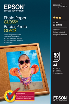 Attēls no Epson Photo Paper Glossy A 4 50 Sheets 200 g