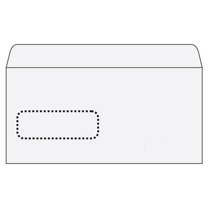 Attēls no BONG Aploksnes Postfix ar logu E65 RH 110x220, (3-125155), 1000 gab./iepak., logs 30x90 mm