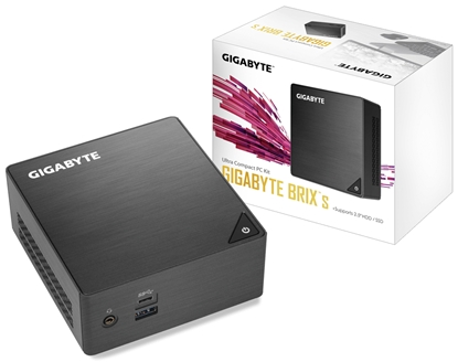 Picture of Gigabyte GB-BLCE-4105 PC/workstation barebone J4105 1.50 GHz UCFF Black BGA 1090