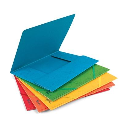 Picture of FORPUS Mape ar gumiju   no kartona, A4 formāts, dzeltena