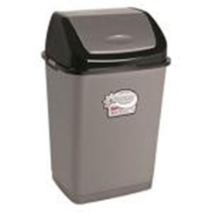 Изображение Atkritumu tvertne 35L,  pelēka-melna