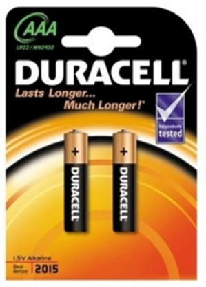 Изображение Baterijas Duracell AAA Alkaline 2pack