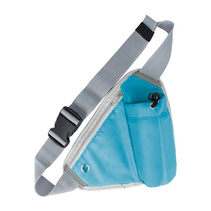 Attēls no GreenGo Sport Bag for Activities with Phone and Bottle Pocket with Hole for Headphones Blue