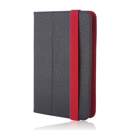 Picture of GreenGo Orbi Universal Tablet Case For 7-8 inches Black - Red
