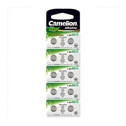 Picture of Camelion AG13 / LR44 / SR44W / 357 / GP76A / A76 / Alkaline 1.5V Batteries (10pcs)