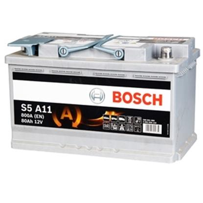 Изображение Akumulators Bosch AGM S5 A11 80Ah 800A Start Stop AGM