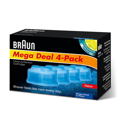 Attēls no Braun Refills 4 Pack  Clean and Renew CCR4 3+1
