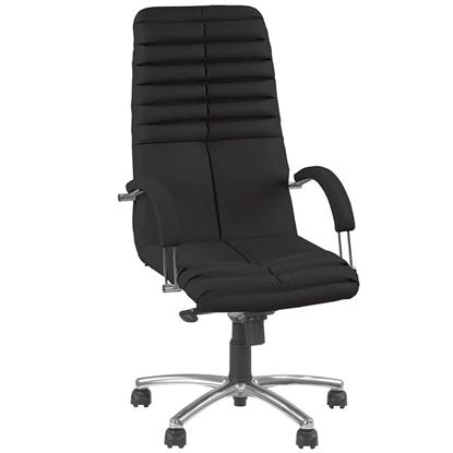 Attēls no NOWY STYL Biroja krēsls   GALAXY Chrome melnā ādā