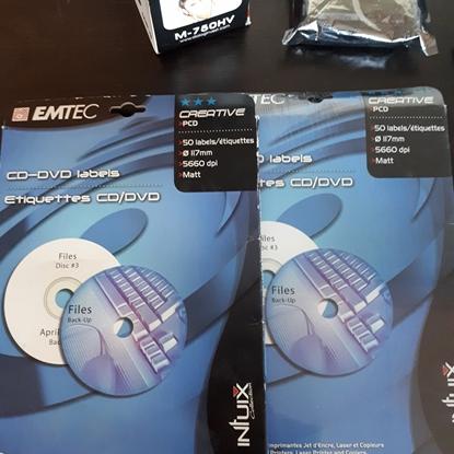 Изображение EMTEC CD etiķetes tintes un lāzera printeriem, PCD 50 , EKSPPCD