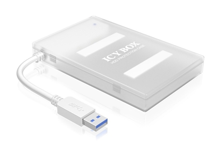Attēls no Adapter cable SATA to 1xUSB 3.0, white + white HDD case