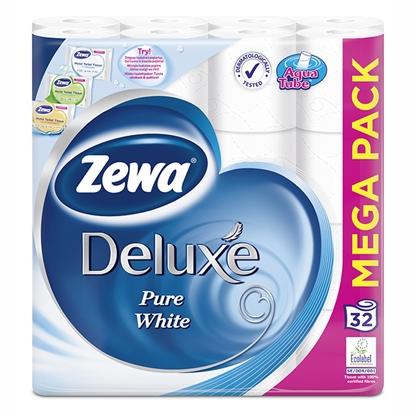 Изображение Tual.papīrs Zewa Deluxe Pure white 3-kārt.32 ruļļi