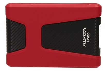 Attēls no ADATA 1TB Portable Hard Drive HD650 DashDrive Choice (Red) USB 3.1, Color Box ADATA