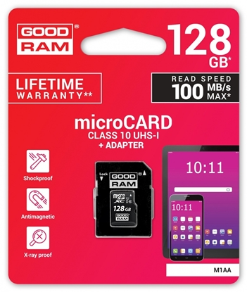 Picture of Goodram 128GB microSDXC class 10 UHS I + Adapter