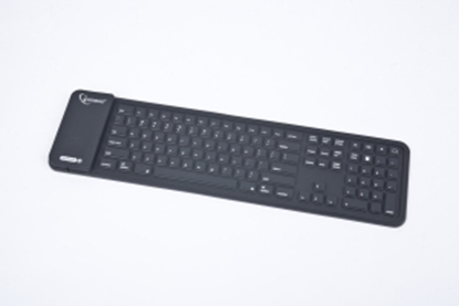 Picture of GEMBIRD   Flexible silicone Bluetooth keyboard, USB, black color, US layout