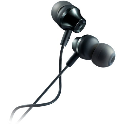 Attēls no CANYON Stereo earphones with microphone, metallic shell, 1.2M, dark gray