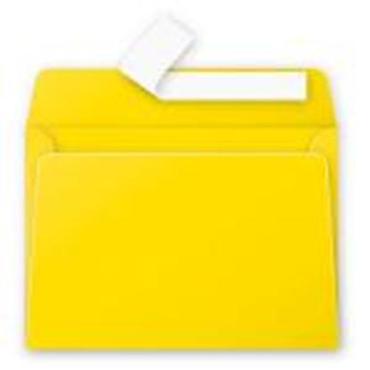 Attēls no Aploksne C6 114x162 dzeltena krāsa