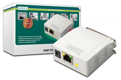 Picture of DIGITUS Fast Ethernet Print Server Parallel