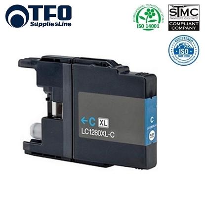 Attēls no TFO Brother LC1280XL-C (LC-1280XLC) Zils Tintes Kārtridžs 19ml MFC-J5910DW uc. HQ Premium Analogs