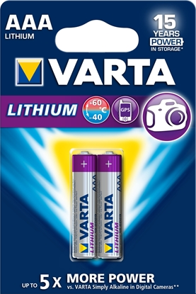 Picture of 1x2 Varta Ultra Lithium Micro AAA LR03