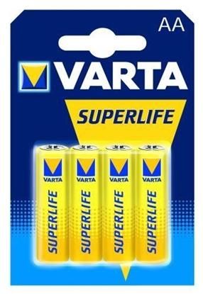 Изображение Baterija Varta AA SuperLife Zinc Carbon 4 Pack
