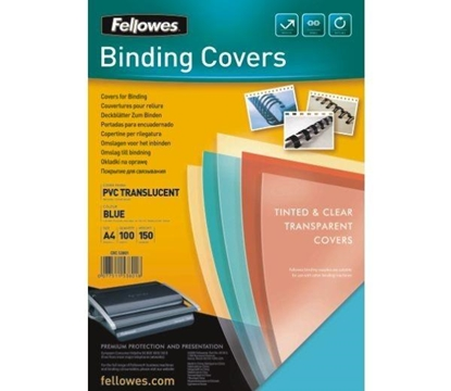 Picture of Fellowes Binding Covers A4 Clear PVC   180 Mikron