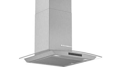 Изображение Bosch Hood Serie 4 DWA66DM50 Chimney, Width 60 cm, 600 m³/h, Stainless steel/ glass, Energy efficiency class A, 59 dB