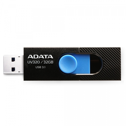 Attēls no ADATA UV320 32GB USB 3.1 (3.1 Gen 2) Type-A Black, Blue USB flash drive