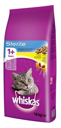 Attēls no ?Whiskas STERILE cats dry food Adult Chicken 14 kg