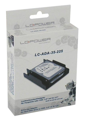 Изображение Adapter LC-POWER LC-ADA-35-225 (3.5 Inch; Not applicable; Plastic; black color)