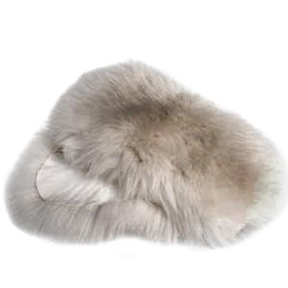 Picture of Aitas kažokādas paklājs balts.112x68