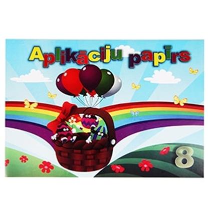 Изображение Aplikācijas papīrs matēts, 8 krāsas